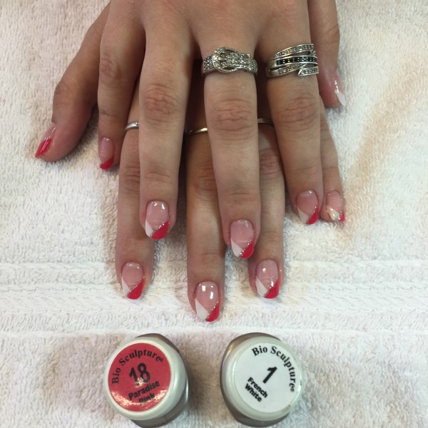 Pose de gel French Fantaisie